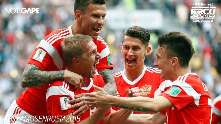 Rotundo éxito el debut de Rusia en el Mundial