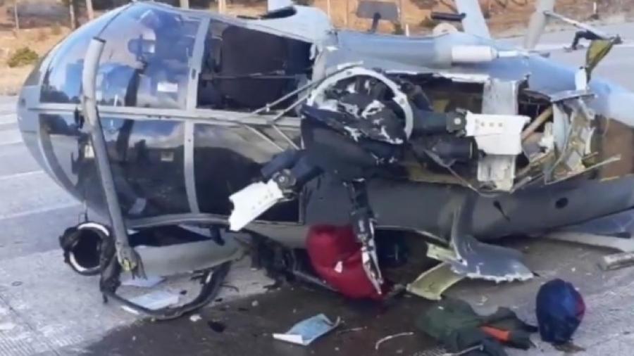 Cae helicóptero de la Sedena en Chihuahua; hay 4 lesionados
