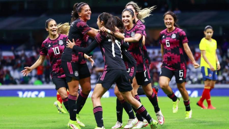 Se impone Selección Mexicana Femenil ante su similar de Colombia