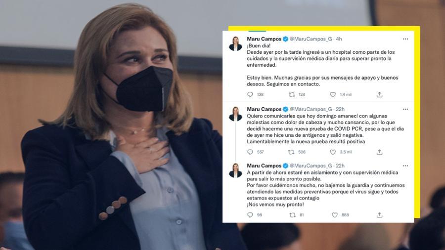 Gobernadora electa de Chihuahua es hospitalizada por Covid-19