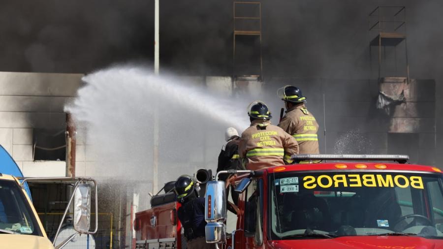 Atendió Protección Civil incendio en maquiladora de Villa Florida