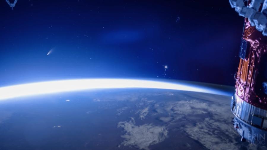 Así se ve el Neowise desde la Estación Espacial Internacional