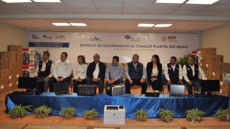 Inauguran ciclo y recibe plantel de Conalep Tamaulipas más de 1.6 mdp en equipamiento