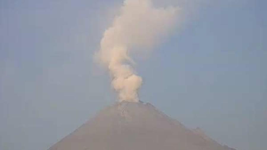 Popocatépetl reporta baja actividad