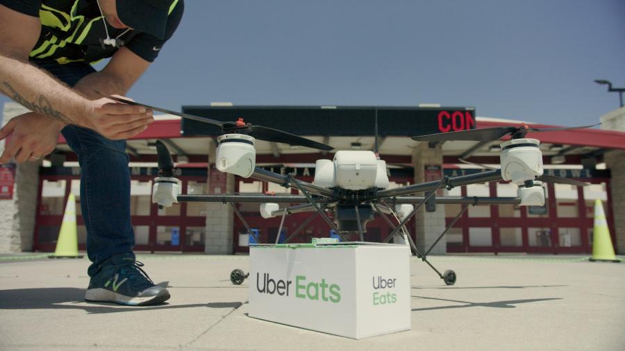 Uber Eats comenzará las pruebas de entregas a domicilio con drones