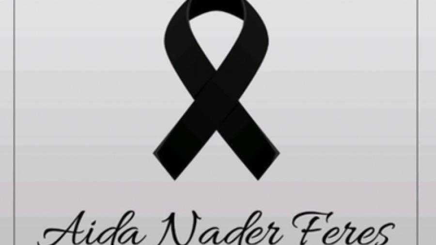 Este martes se realizará misa en memoria de Aida Nader Feres