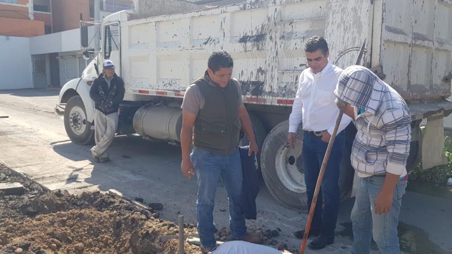 Por concluir rehabilitación de drenaje sanitario en Río Purificación