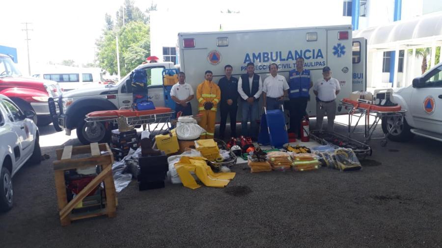 Se entrega equipo de emergencias a protección civil regional situado en Altamira