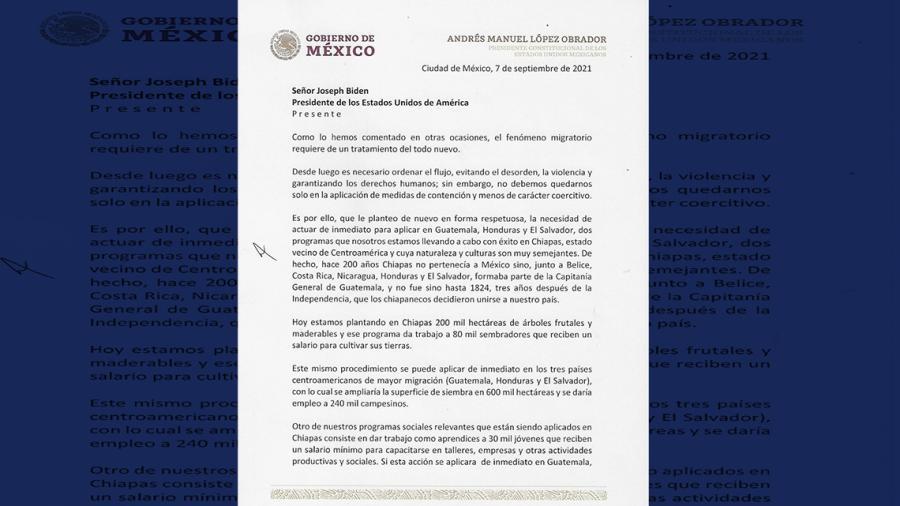 Revela AMLO carta enviada a Biden solicitando más recursos para programas sociales en Centroamérica