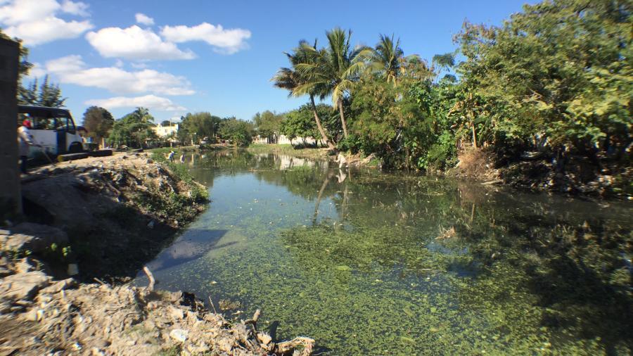 Desasolvan canales y lagunas de Madero