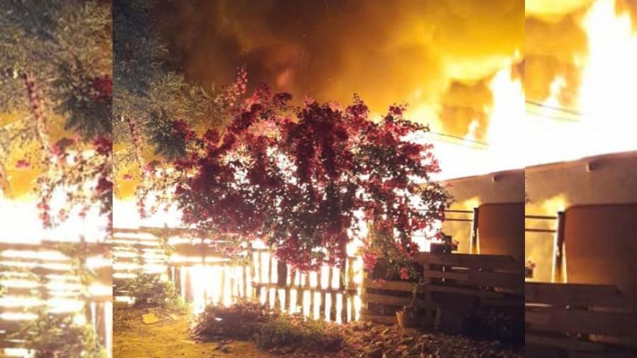 9 familias pierden sus viviendas, tras fuerte incendio en Ciudad Madero