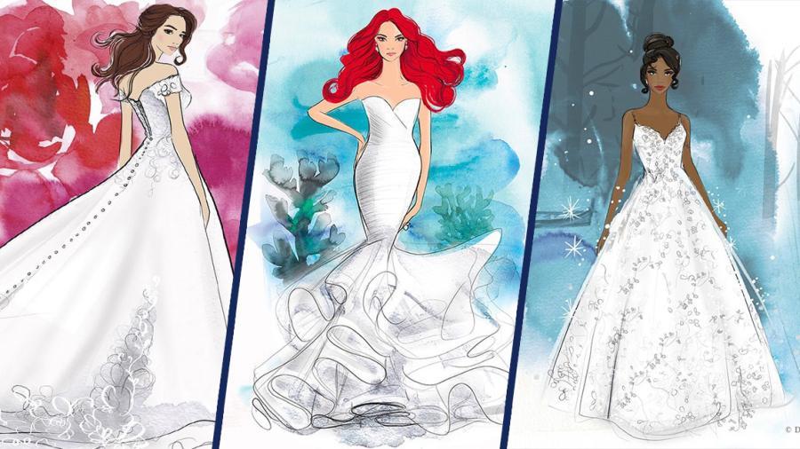 ¡Tomen todo mi dinero! Disney crea línea de vestidos de novia inspirado en las princesas