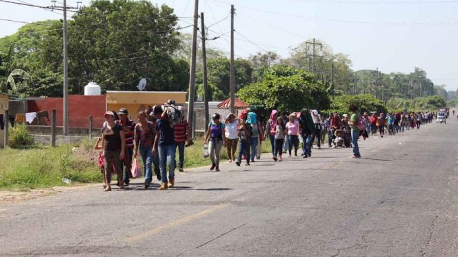Llegan migrantes haitianos desde Chile a Chiapas