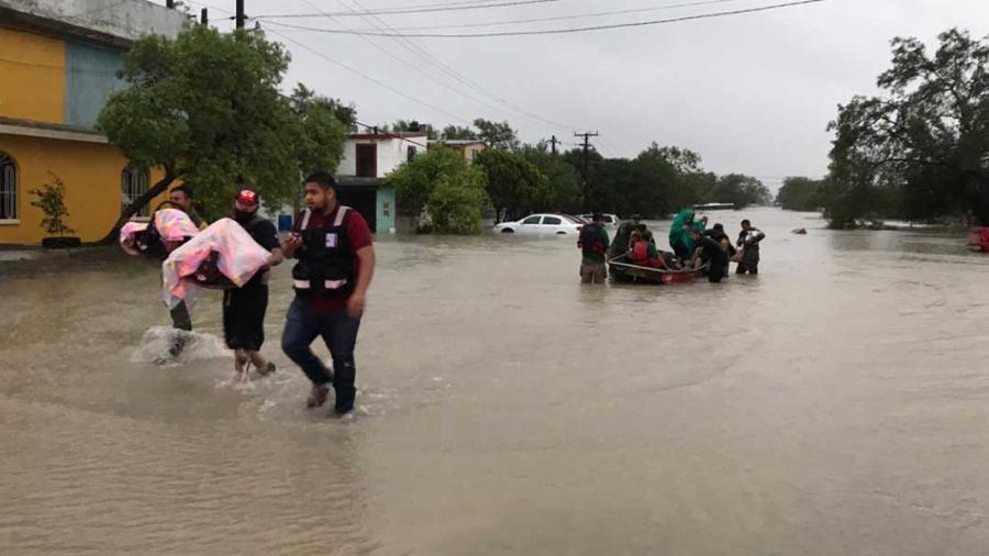 Dos personas fallecidas tras el paso de Hanna en Reynosa