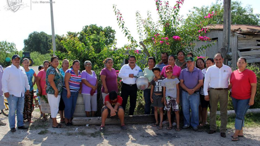 Instalan alumbrado en poblado de Valle Hermoso