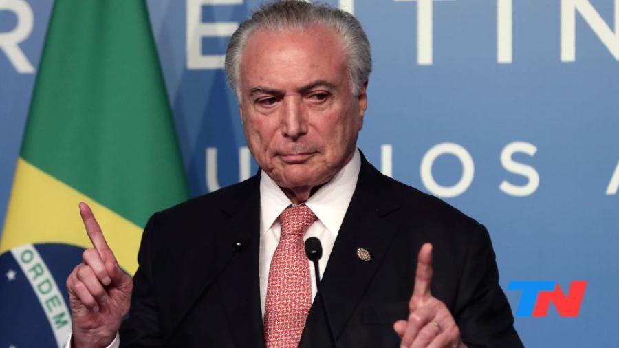 Detienen al expresidente de Brasil Michel Temer