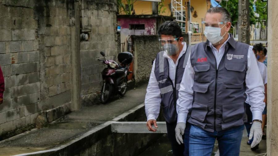 Intensas acciones de mantenimiento en la red pluvial de Ciudad Madero