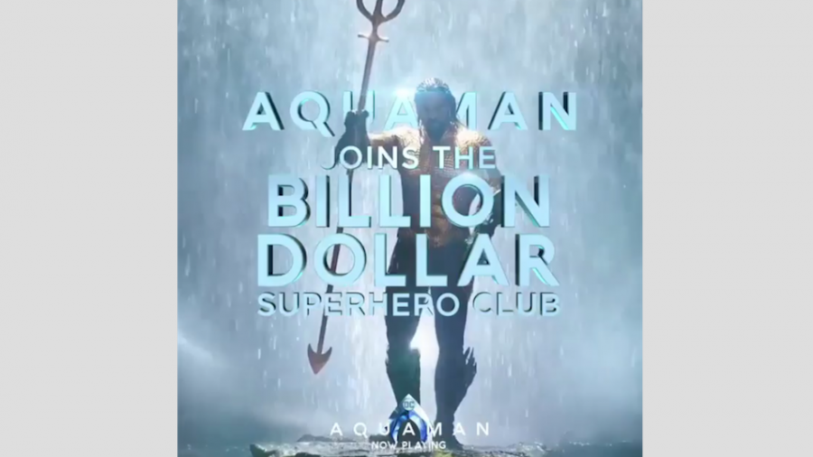 """""""Aquaman"""" supera el billón de dólares en recaudación"""