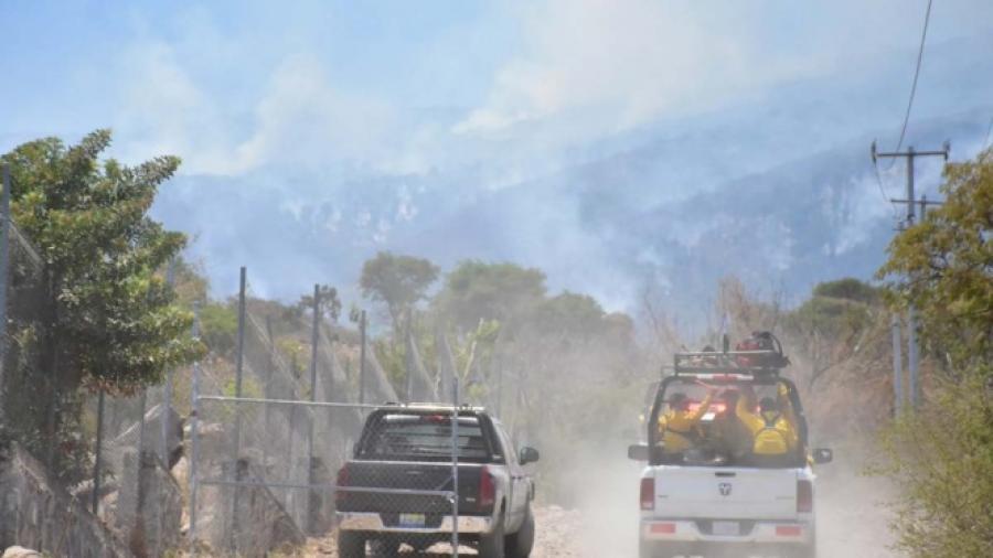 Controlado incendio en el Cerro Viejo, en Tlajomulco