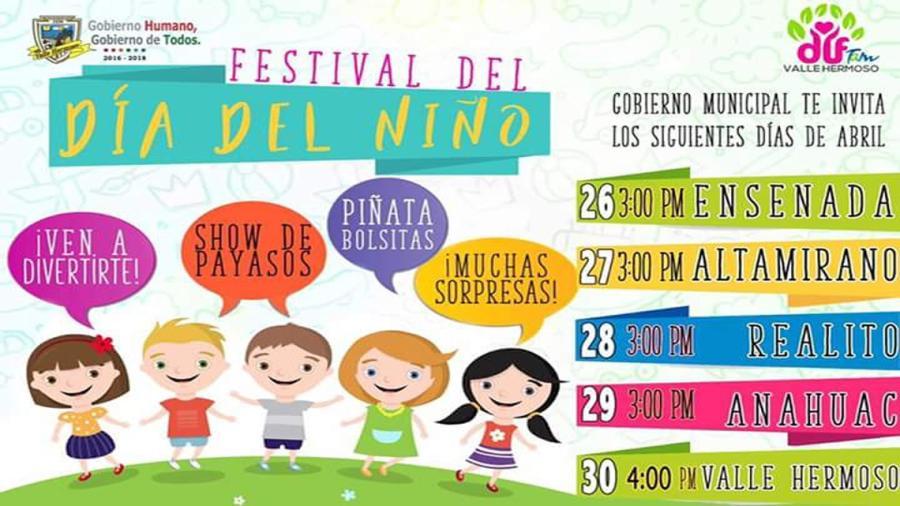"""Ayuntamiento invita a celebración del """"Día del niño"""""""