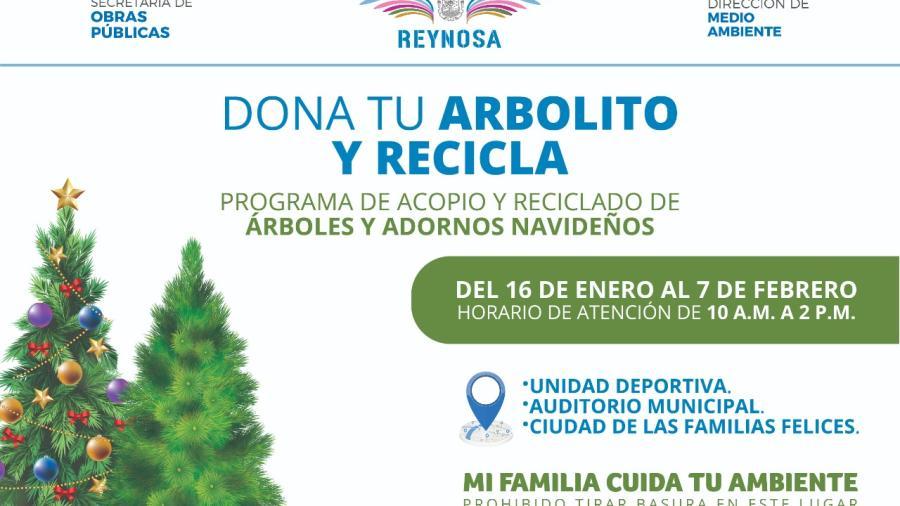 Inicia Gobierno Municipal programa de reciclado de árboles navideños