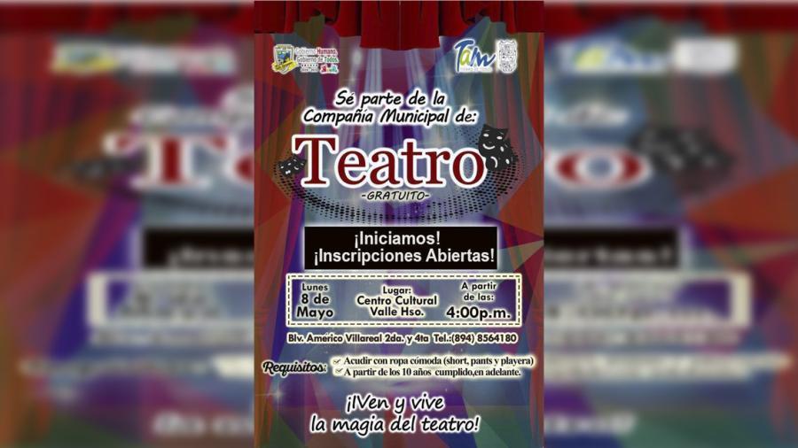 Invitan a formar parte de la compañía municipal de Teatro