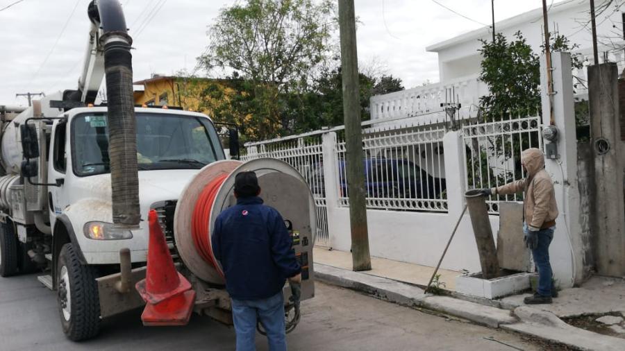 Mejora Gobierno  Municipal de Reynosa servicio de drenaje sanitario