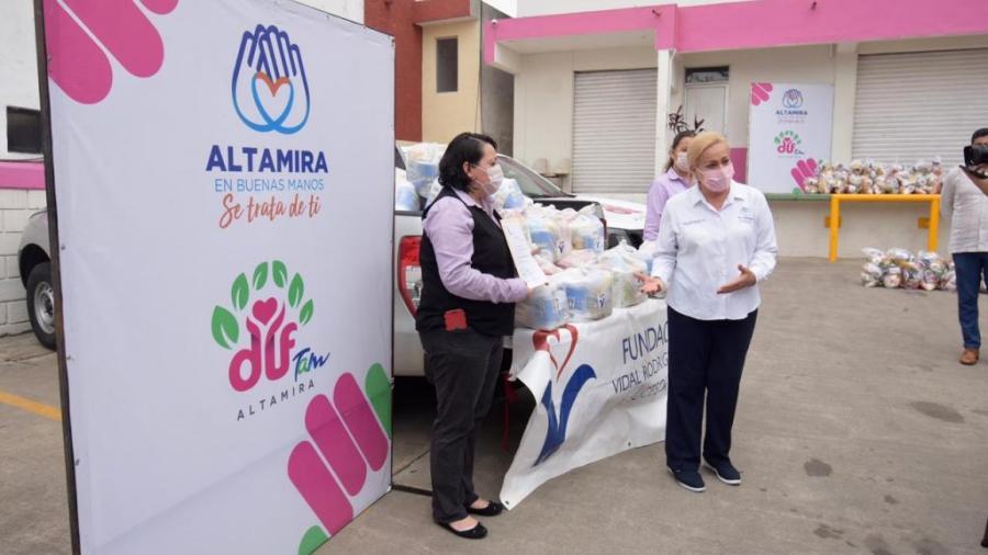 Se suma iniciativa privada a las acciones de apoyo en Altamira por pandemia de COVID-19