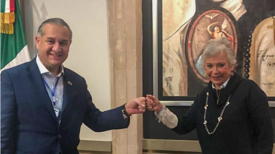 Se reúne Adrián Oseguera con Olga Sánchez Cordero
