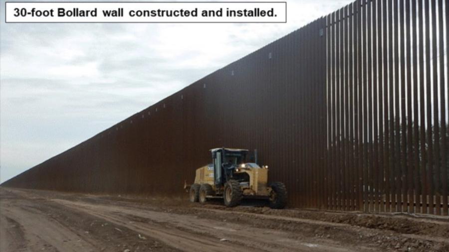 Trump presume avances del muro
