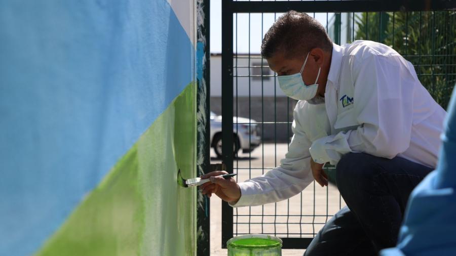 Gobierno del Estado y la Sebien continúan dando mantenimiento a Parques y Centros de Bienestar