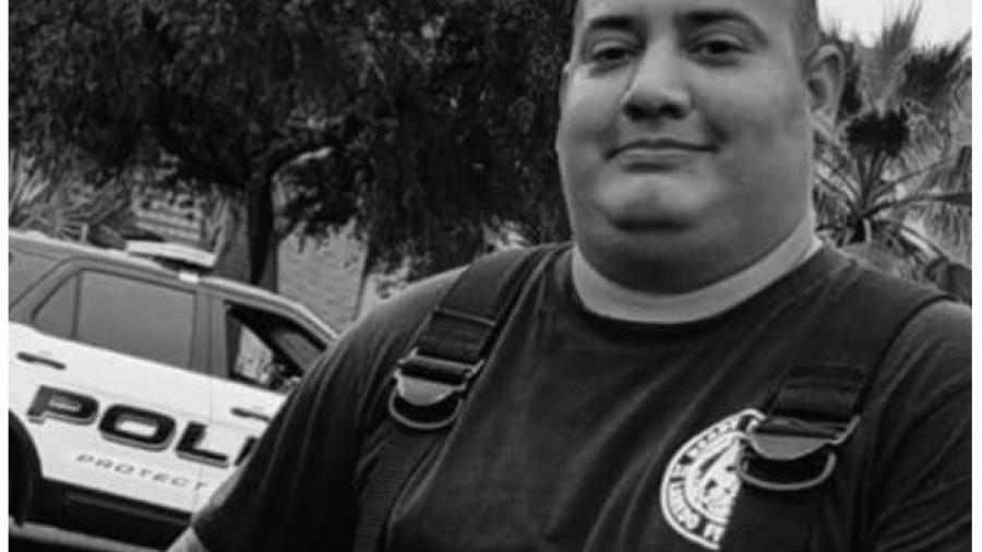 Muere bombero de Laredo Texas en accidente vial