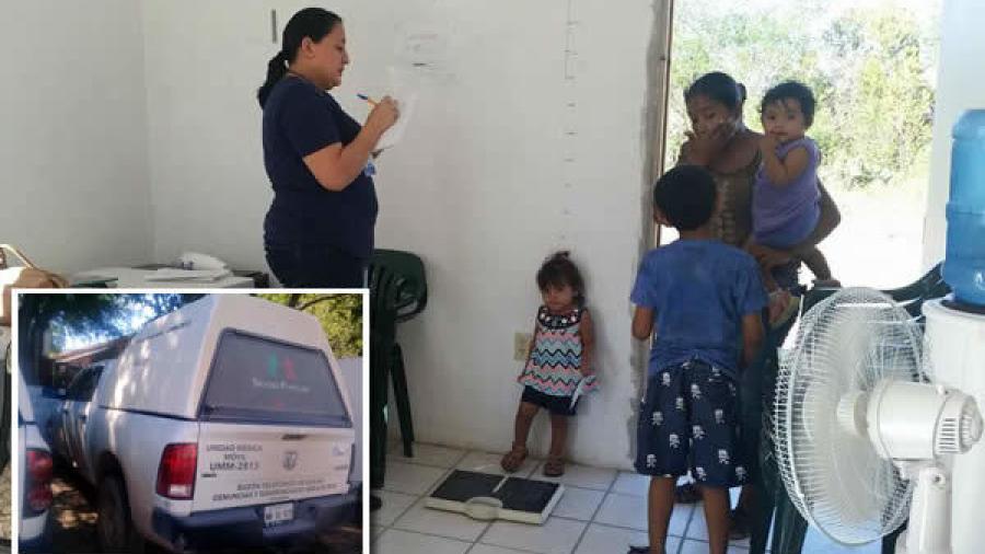 Unidades Médicas Móviles brinda atención a comunidades rurales