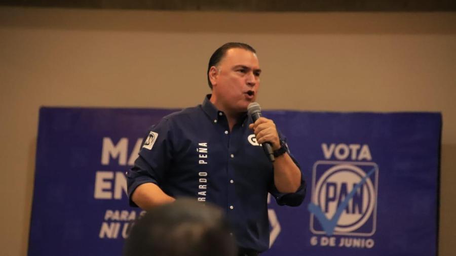 Con el apoyo del magisterio va Gerardo Peña a la victoria