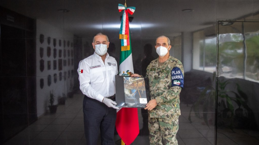 Alcalde de Madero refuerza alianza con autoridades de la Primera Zona Naval