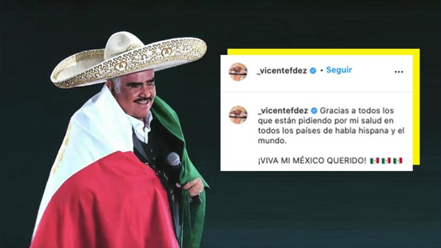 Vicente Fernández agradece que fans oren por su salud