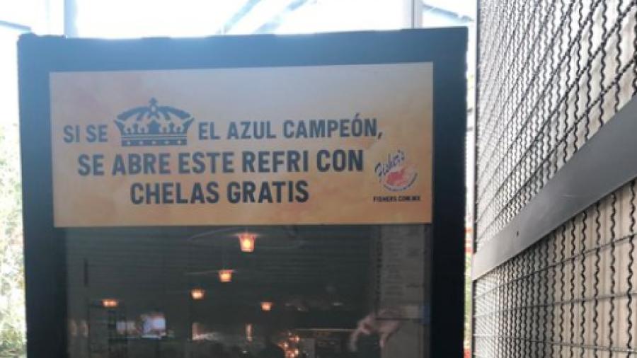 Cerveza gratis si Cruz Azul sale campeón