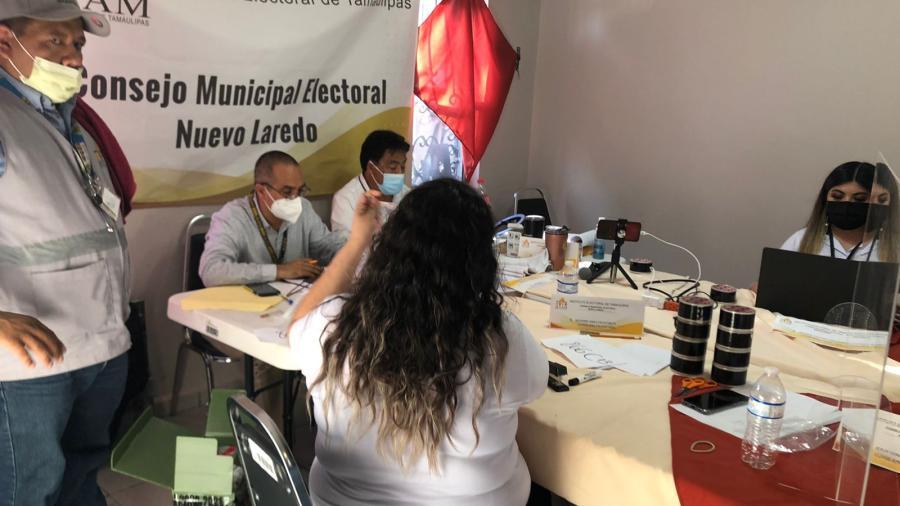 Continúa reconteo de votos en el Consejo Municipal Electoral de Nuevo Laredo