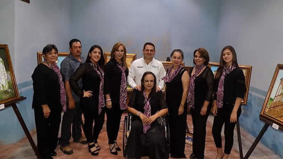 """Realizan exposición de pinturas denominada """"Estampas de Mi Pueblo"""""""
