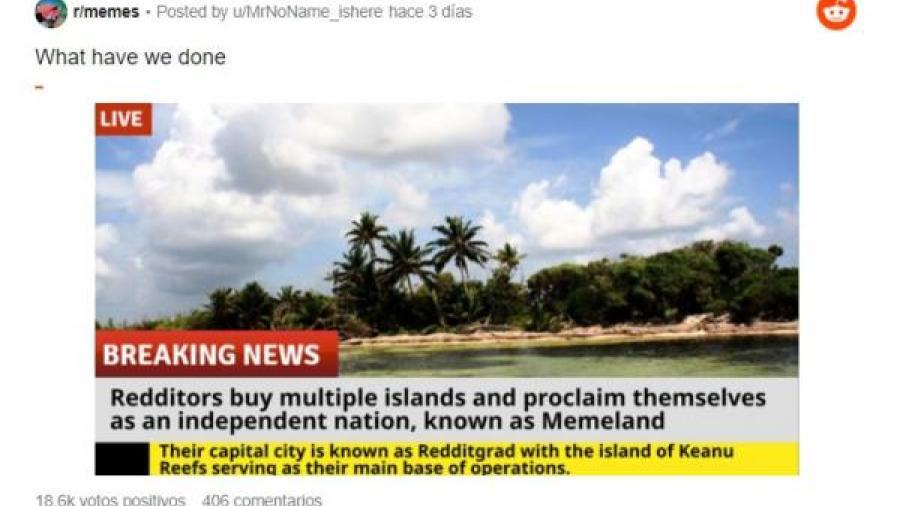 Usuarios de Reddit planean comprar una isla para fundar un país