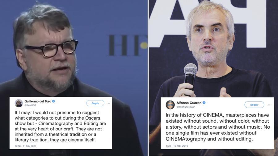 Guillermo del Toro y Alfonso Cuarón expresan su desacuerdo con los Oscar