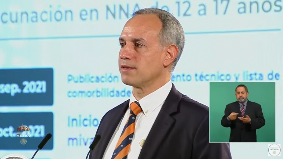 México iniciará la vacunación en menores de 12 a 17 años con enfermedades crónicas