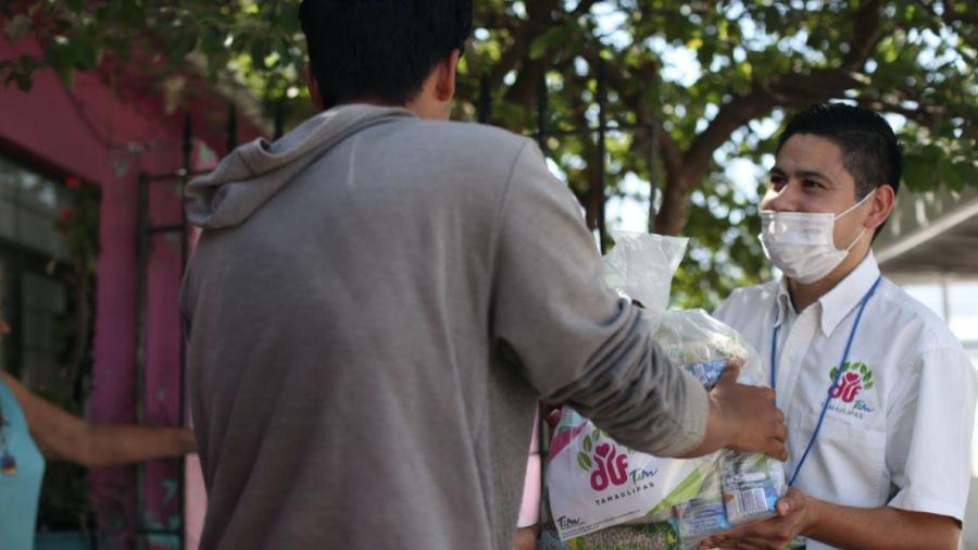 Entrega DIF Tamaulipas 3 mil apoyos alimentarios casa por casa en la entidad
