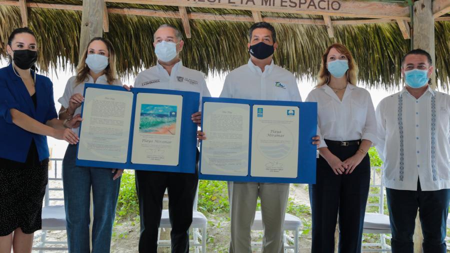 Recibe Playa Miramar certificación internacional por su calidad turística y cuidado del medio ambiente