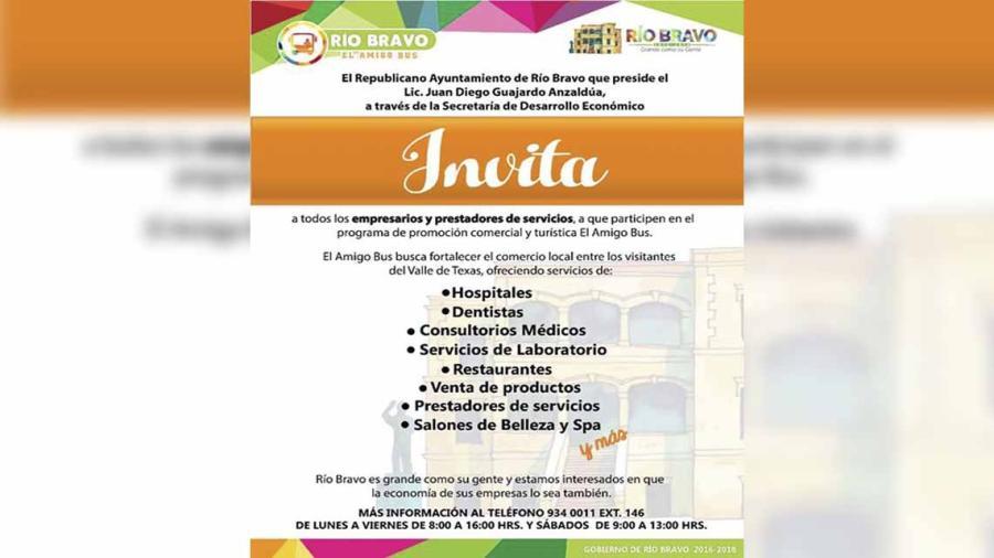 """Ayuntamiento invita a participar en el programa """"El Amigo Bus"""""""