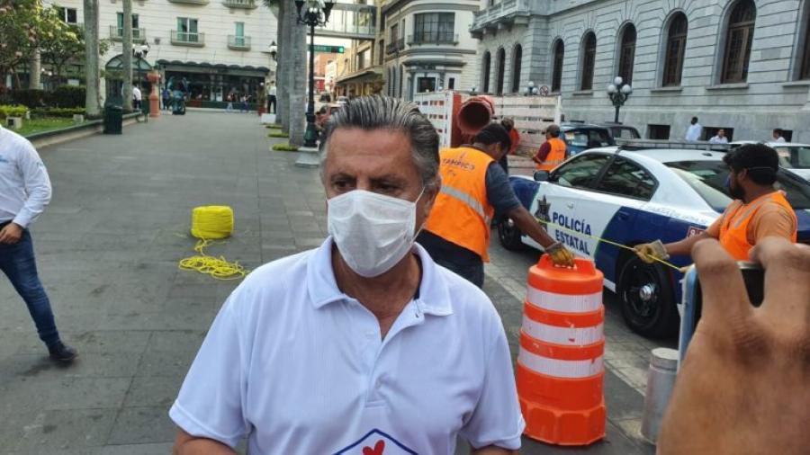 Ordena Chucho Nader cierre de la zona Centro de Tampico