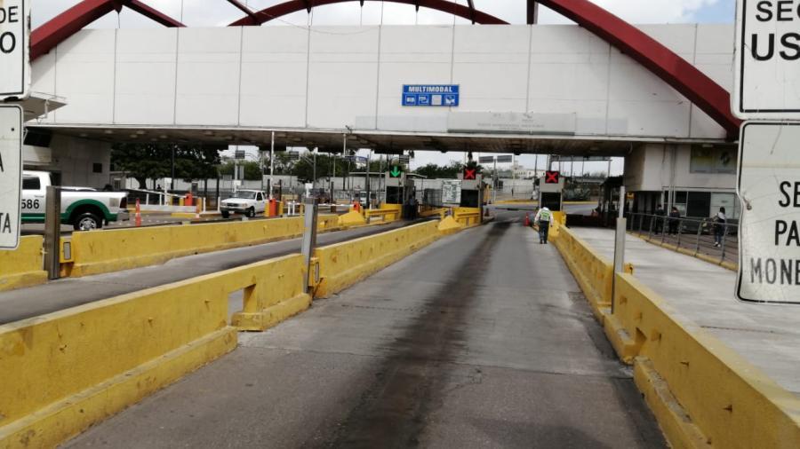 Puentes Internacionales de Matamoros inician la semana totalmente vacíos