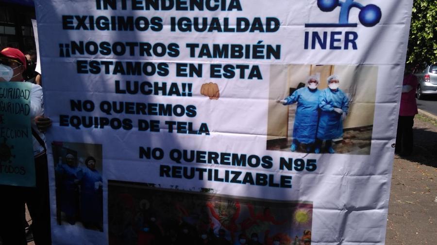 Personal médico del INER se manifiesta por falta de insumos médicos