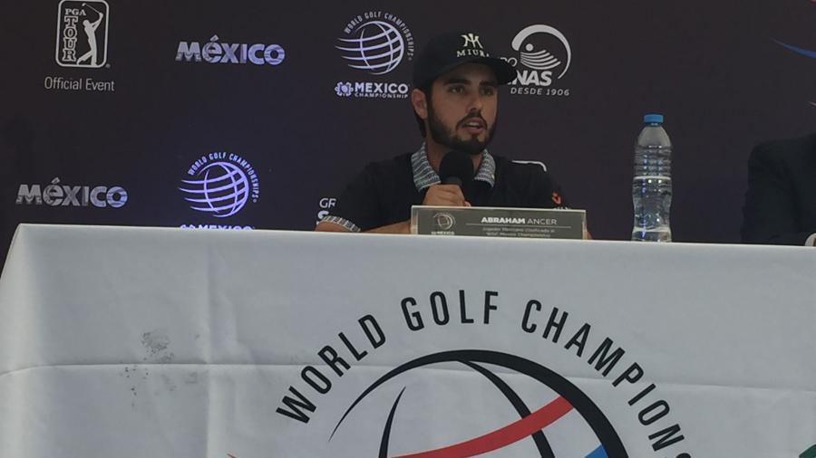 """Abraham Ancer, emocionado de debutar en el WGC junto a su """"ídolo"""" Tiger Woods"""