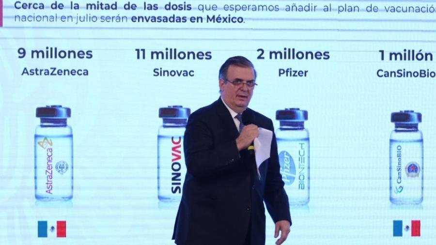 Tendrá México 100 millones de vacunas contra COVID-19 para finales de agosto: Ebrard